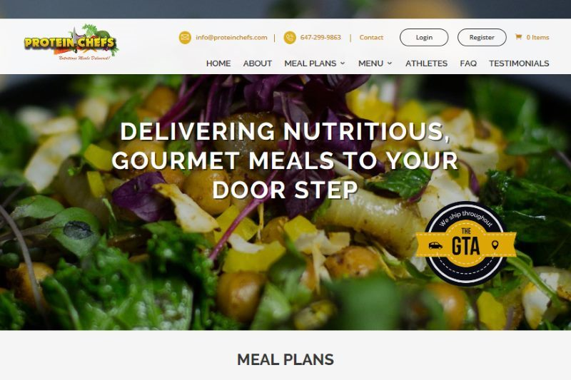 Feature Web Design Project: Protein Chefs