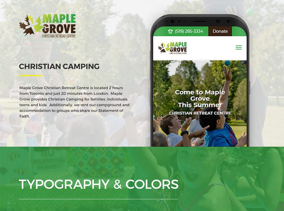 Maple Grove Award Winning Website Redesign