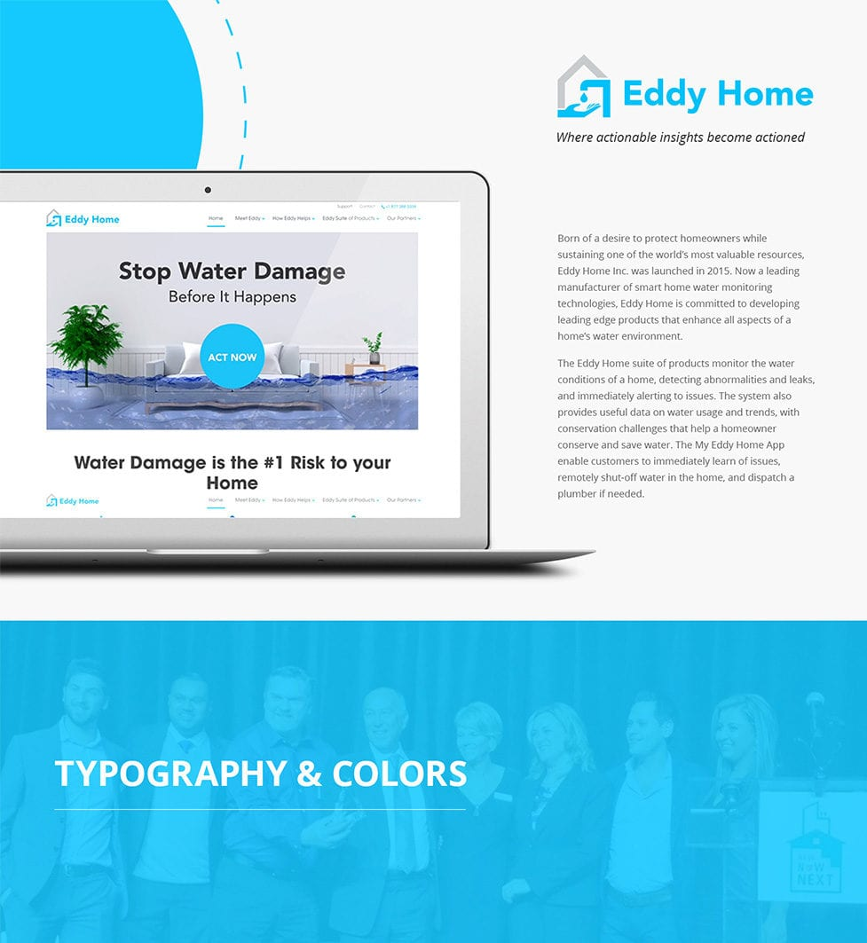 Eddy Home Website Design