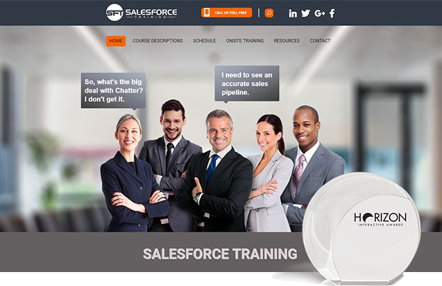 Salesforce Training award winning website design