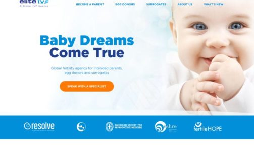 ELITE IVF Web Design Feature Project