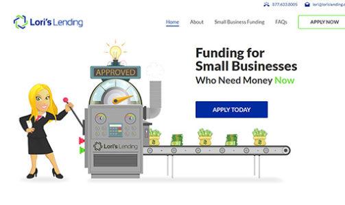 Lori's Lending Website Portfolio Image