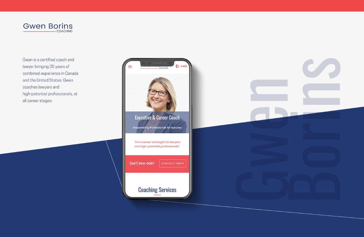 Feature Website Project for Executive Coach