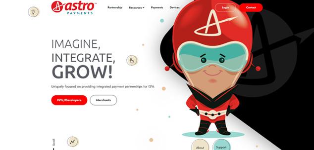 Astro Payments Portfolio Image